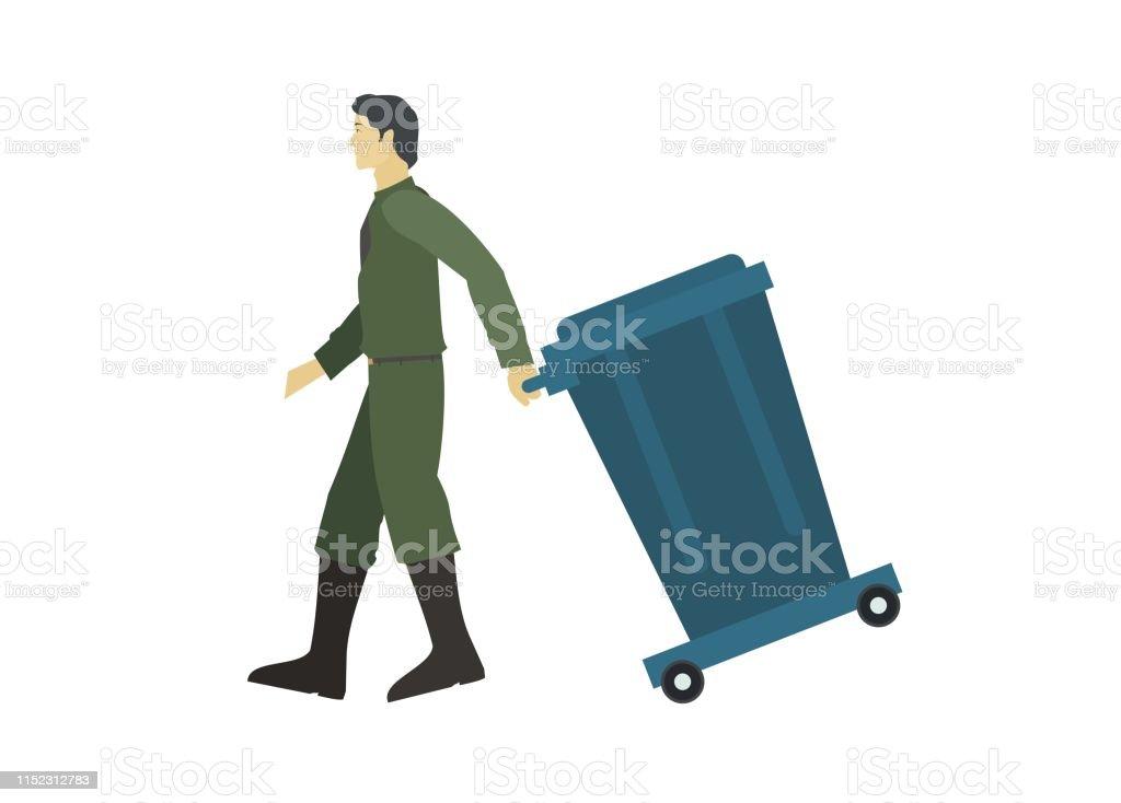 ¿Cómo estas hoy? en imagenes. - Página 6 Cleaning-service-man-pulling-garbage-trolley-vector-id1152312783
