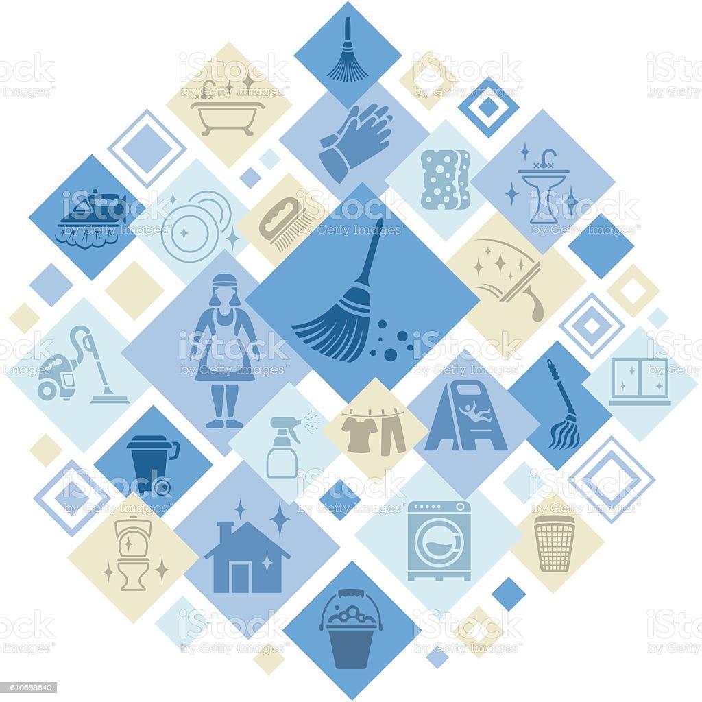 Cleaning Service Montage – Vektorgrafik