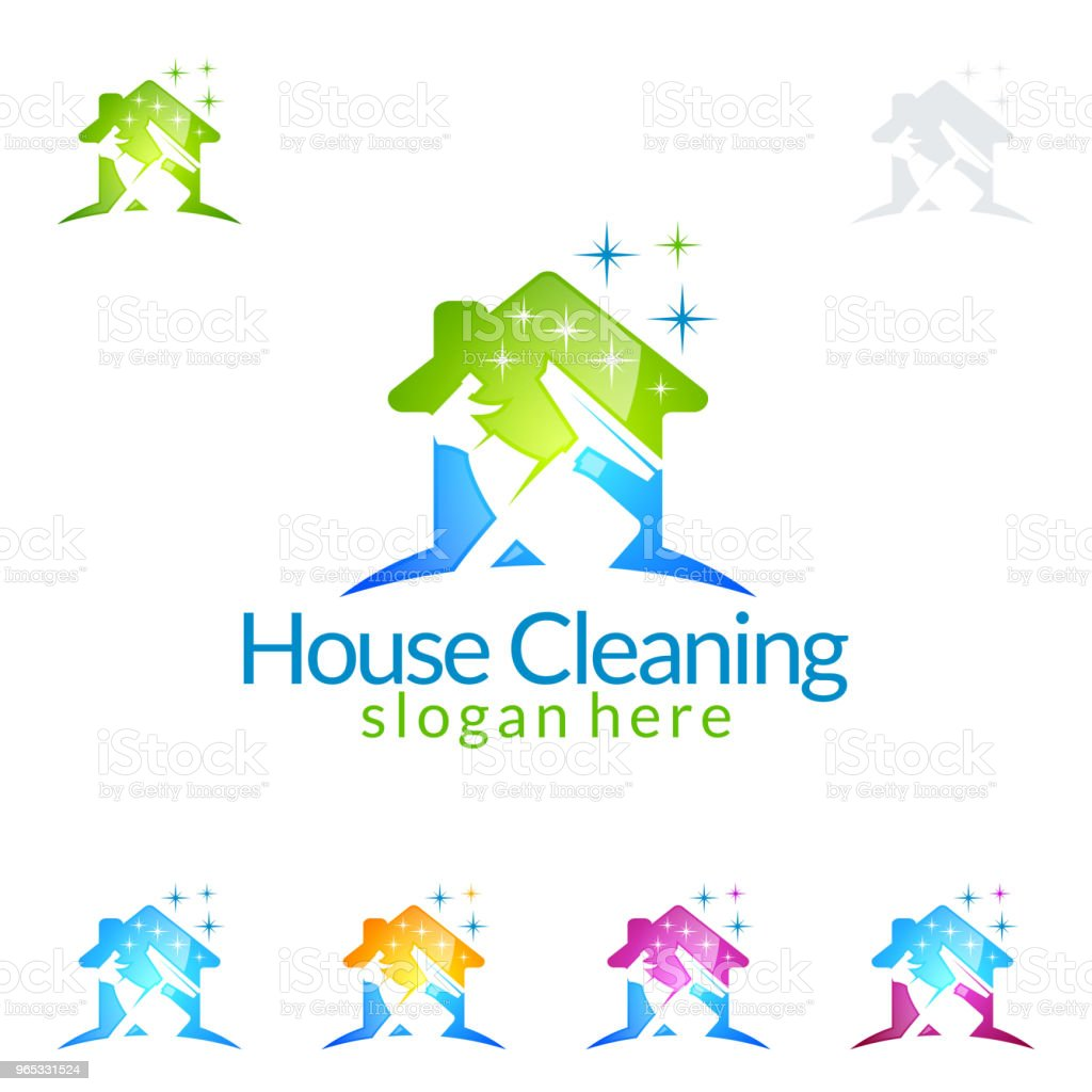 Cleaning Service vector design, Eco Friendly Concept for Interior, Home and Building