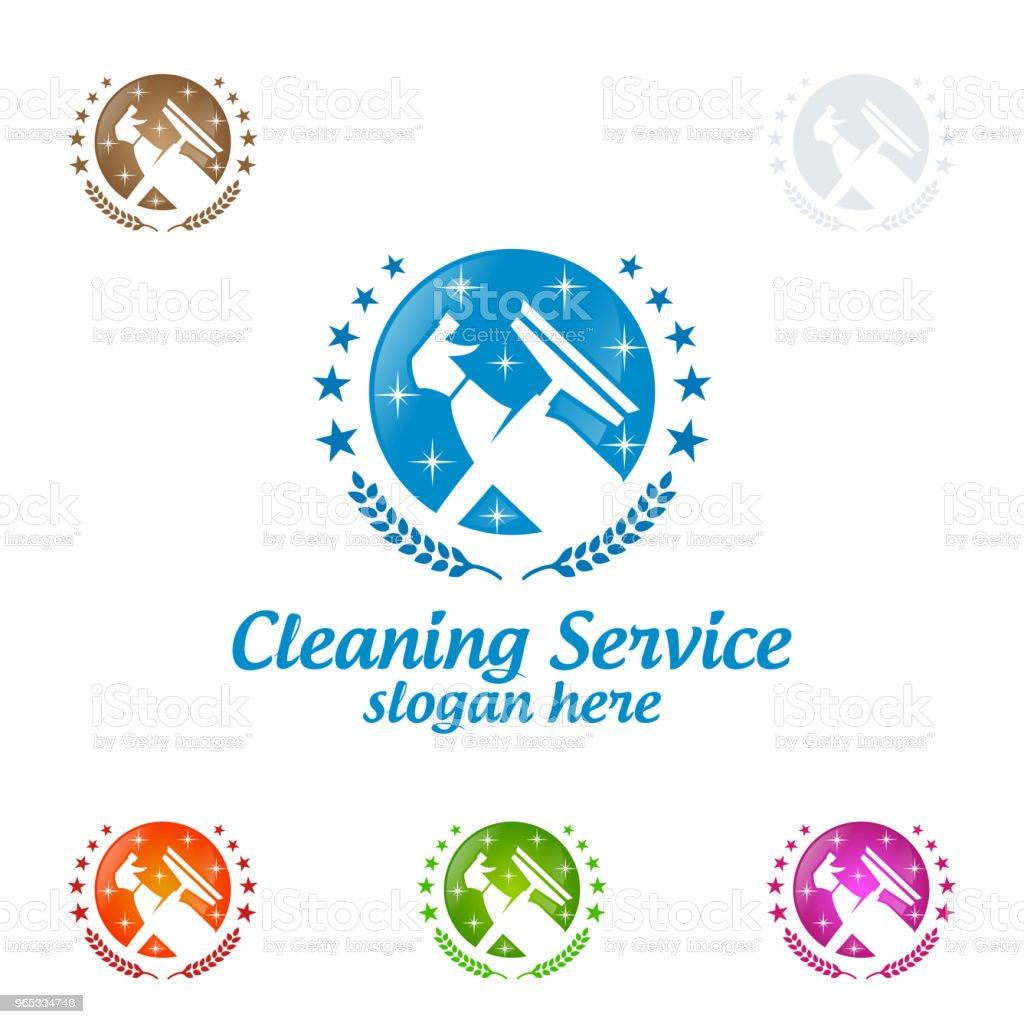 Conception du Service vecteur, Eco Friendly Concept pour l'intérieur, la maison et les capacités de nettoyage - clipart vectoriel de Affaires libre de droits