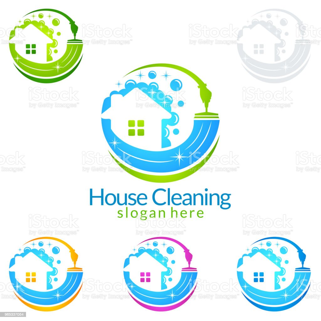 Cleaning Service vector design, Eco Friendly Concept for Interior, Home and Building cleaning service vector design eco friendly concept for interior home and building - stockowe grafiki wektorowe i więcej obrazów bańka royalty-free