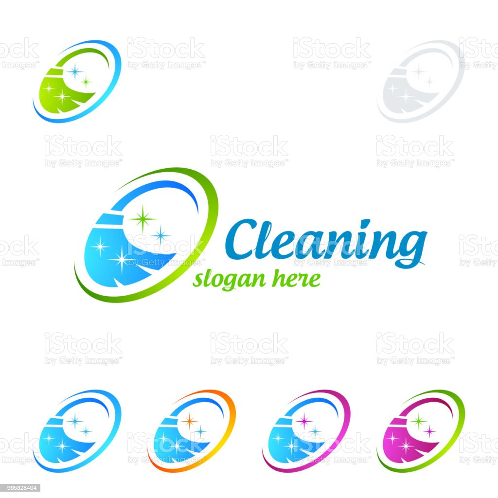 Cleaning Service vector Symbol Design cleaning service vector symbol design - stockowe grafiki wektorowe i więcej obrazów bańka royalty-free