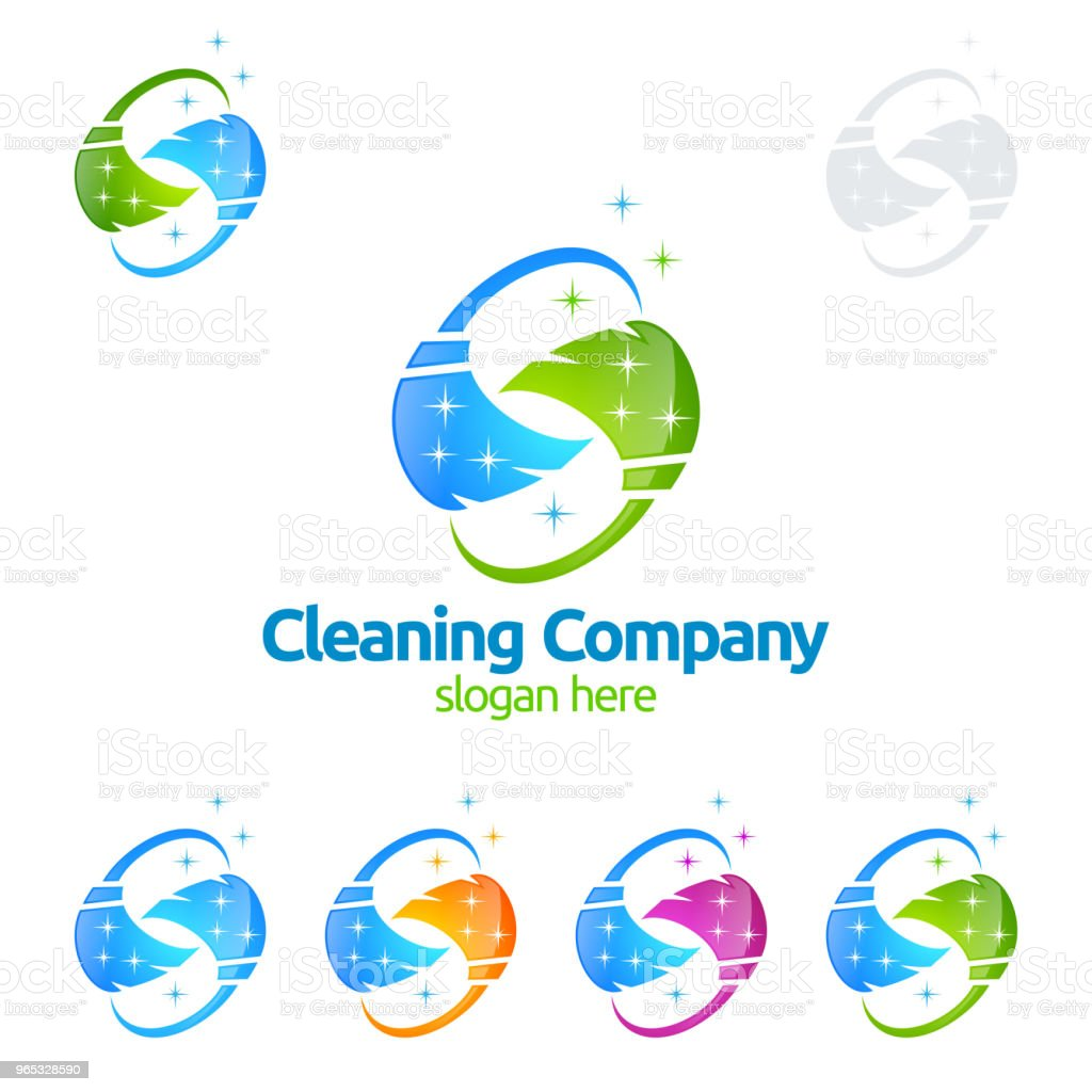 Cleaning Service vector Symbol Design royalty-free cleaning service vector symbol design stock illustration - download image now