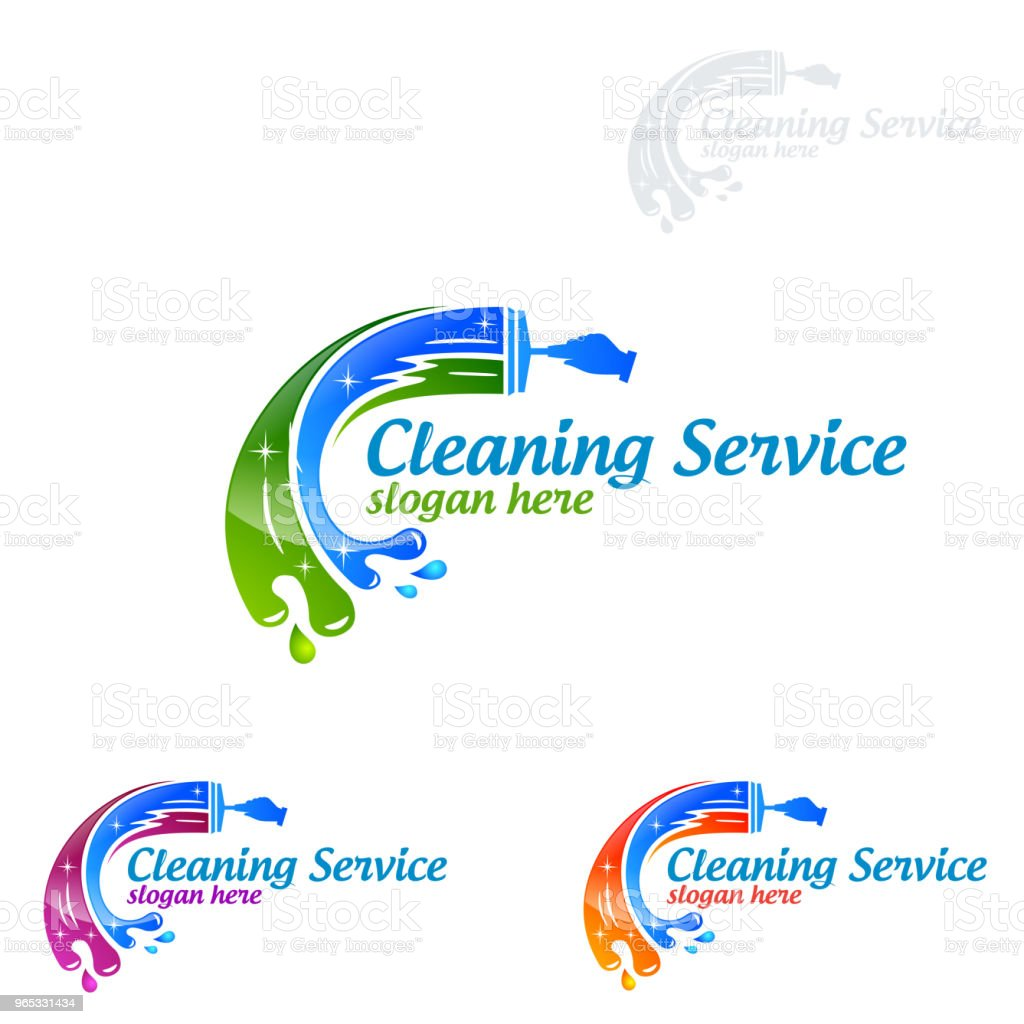 Cleaning Service vector Symbol Design cleaning service vector symbol design - stockowe grafiki wektorowe i więcej obrazów bańka royalty-free