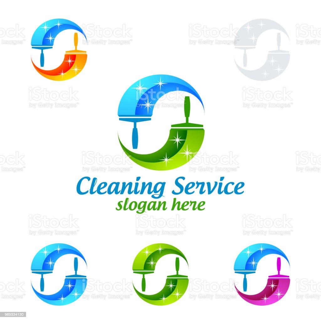 Vecteur de Service nettoyage symbole Design - clipart vectoriel de Affaires libre de droits