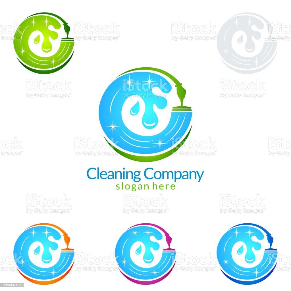清潔服務向量符號設計 - 免版稅乾淨圖庫向量圖形