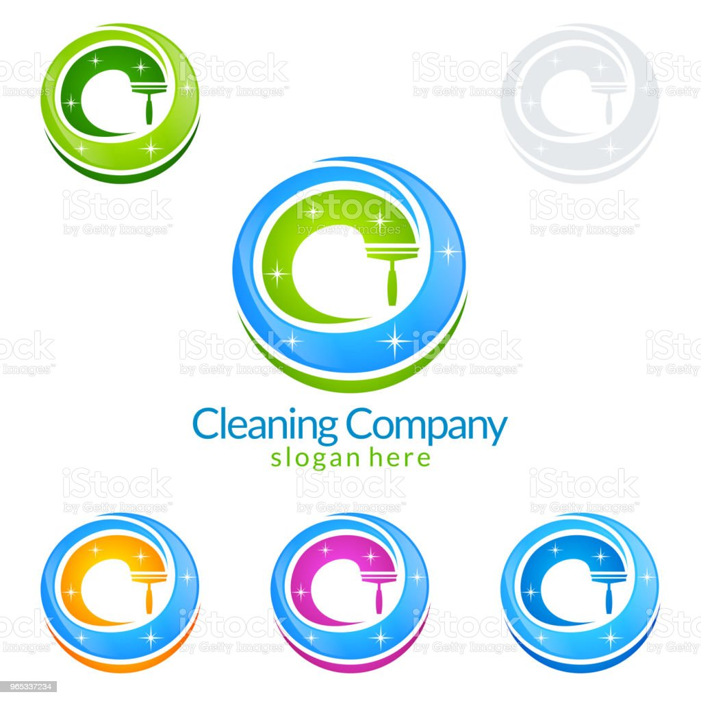 Cleaning Service vector Symbol Design royalty-free cleaning service vector symbol design stock vector art & more images of broom