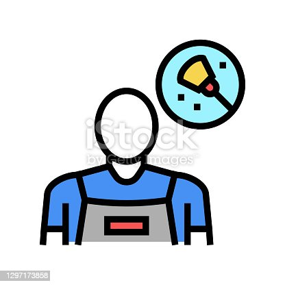 istock cleaning service worker color icon vector illustration 1297173858