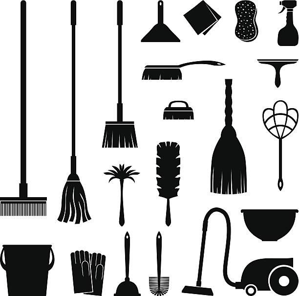 Cleaning set vector art illustration