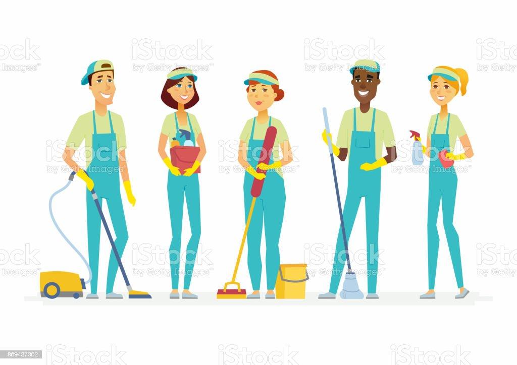 Ilustración De Limpieza Personal Personas Dibujos