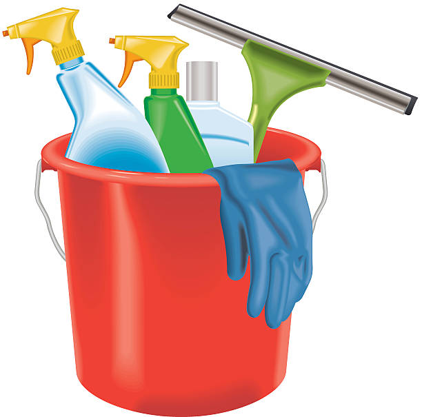 Household Supplies: Royalty Free Window Cleaning Clip Art, Vector Images