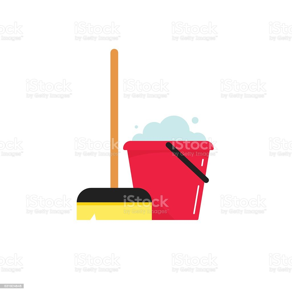 Cleaning supplies vector illustration isolated on white background vector art illustration