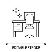 istock Cleaning table desk icon 1165187273