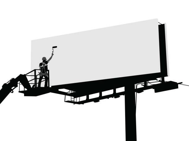 Nettoyer les panneaux d'affichage - Illustration vectorielle
