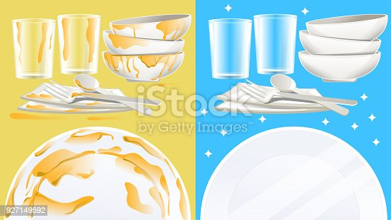 istock Cleaning the dishes after a meal. 927149592