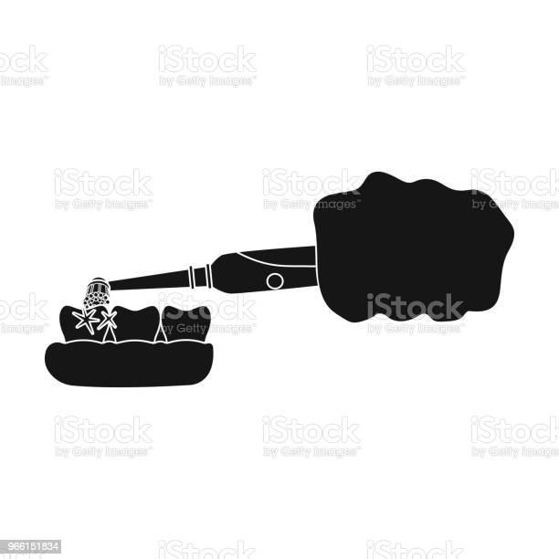 Pulizia Dei Denti Con Uno Spazzolino Elettronico Icona Singola Per Ligiene Dentale In Stile Nero Simbolo Vettoriale Stock Illustrazione Web - Immagini vettoriali stock e altre immagini di Cibo