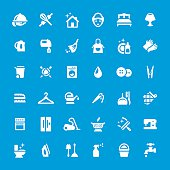 Cleaning and Housework vector icons - set #17
