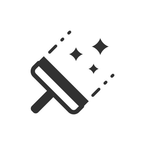 illustrations, cliparts, dessins animés et icônes de nettoyage des fenêtres. - raclette