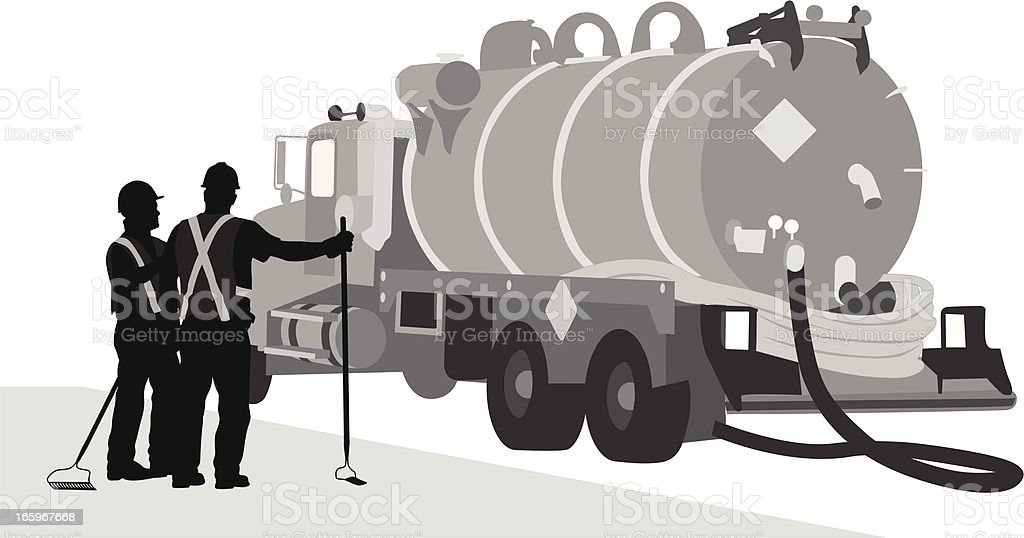 Clean-up Vector Silhouette royalty-free stock vector art
