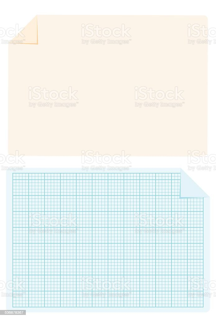 Clear And Blue Print Style Grid Paper Stock Illustration