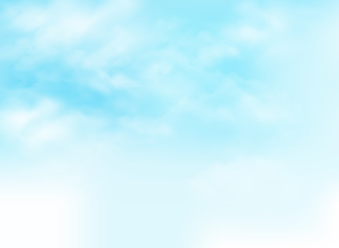 Clear blue sky with clouds pattern background illustration. clipart