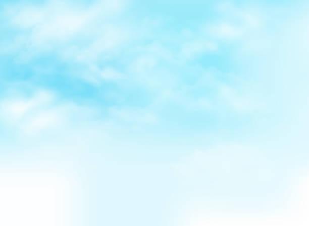 青空雲パターン背景イラスト。 - 空点のイラスト素材/クリップアート素材/マンガ素材/アイコン素材