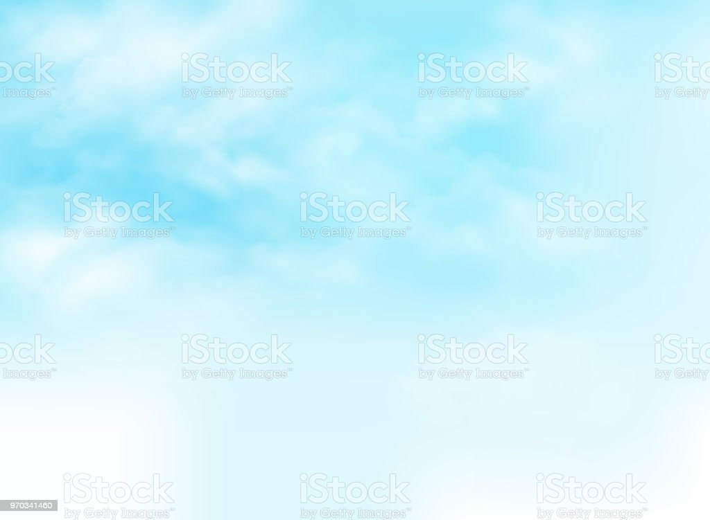 Clear blue sky with clouds pattern background illustration. vector art illustration