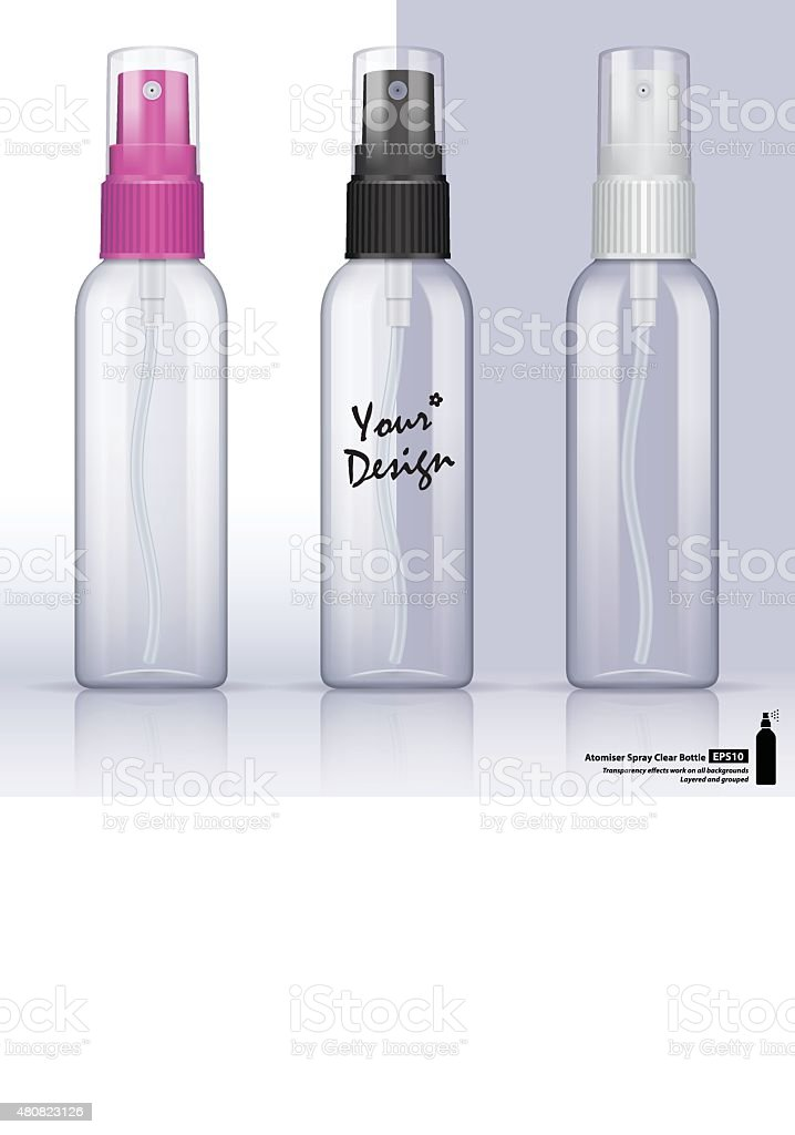 Clear bottle atomiser vector art illustration