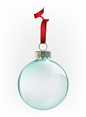 Vector illustration of beautiful transparent christmas ball