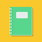 istock clear exercise book cover, flat vector illustration 1138145225