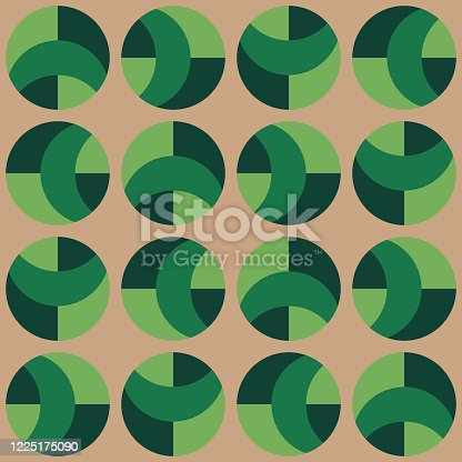 istock Clear geometric forms. Abstract vector seamless pattern. 1225175090