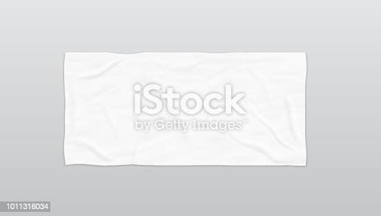 istock Clear White Soft Beach Towel For Branding 1011316034