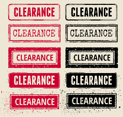Clearance Vector Rubber Stamp Collections