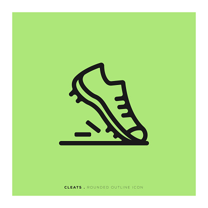 Cleats Rounded Line Icon