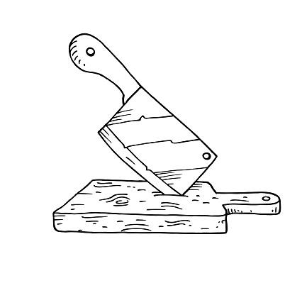 Cleaver hand drawn illustration