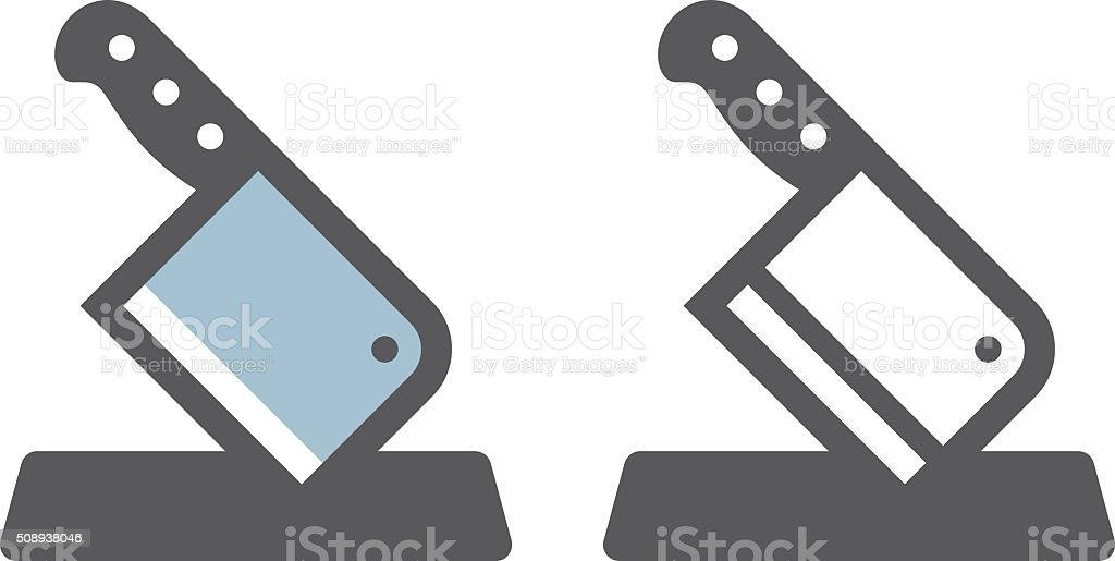 Cleaver icône - Illustration vectorielle