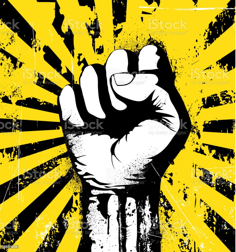 clenched fist royalty-free stock vector art