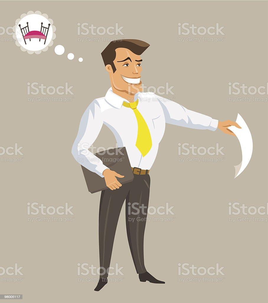 Funcionário de ilustração de funcionário de e mais banco de imagens de adulto royalty-free