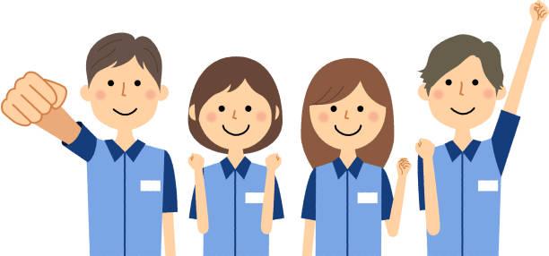 Clerks,Fellow worker/It is an illustration of clerks. vector art illustration