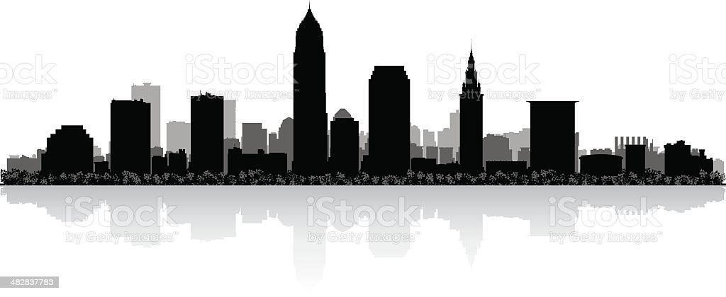 royalty free cleveland skyline clip art vector images rh istockphoto com