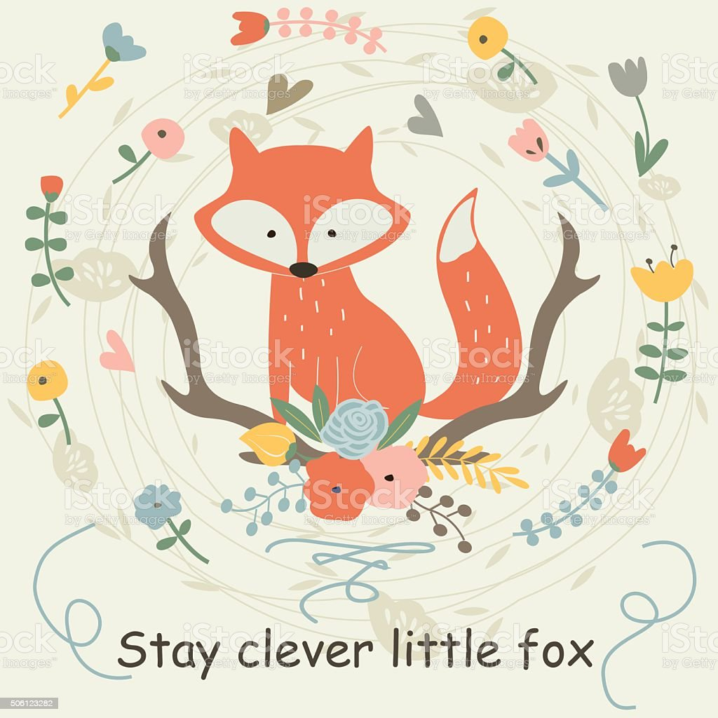 Clever Fox: Cleverfoxpopcolor Stock Vector Art & More Images Of Animal