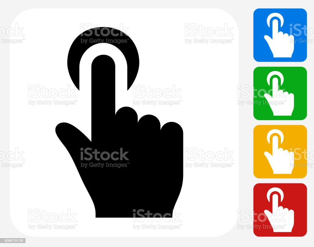 Click Choose Icon Flat Graphic Design vector art illustration