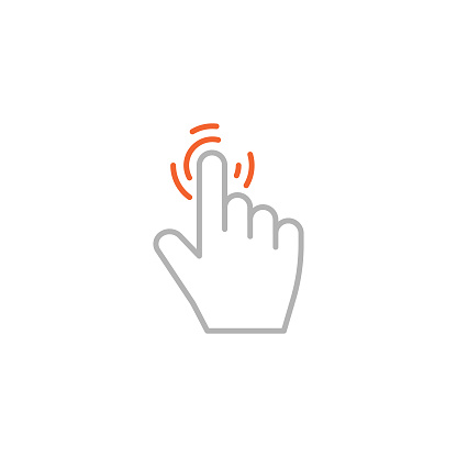 Clicker, Touch Screen Single Icon with Editable Stroke
