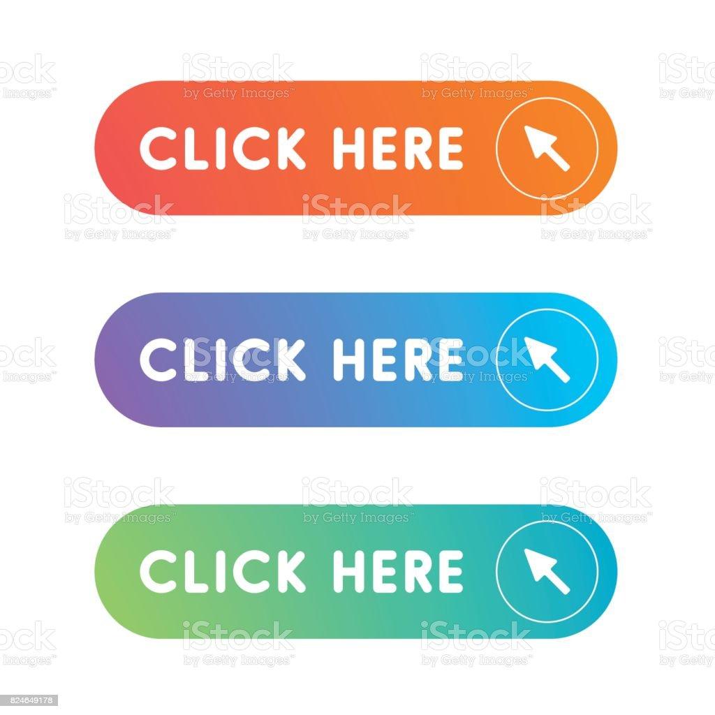 Haga clic en el botón - ilustración de arte vectorial