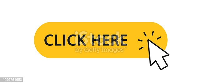 istock Click here button with arrow pointer clicking icon. Click here vector web button. Web button with action of arrow pointer. Click here, UI button concept. Vector illustration 1299764650