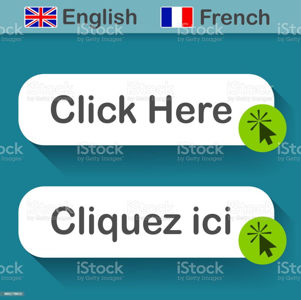 click here button with french translation royalty-free click here button with french translation stock vector art & more images of business