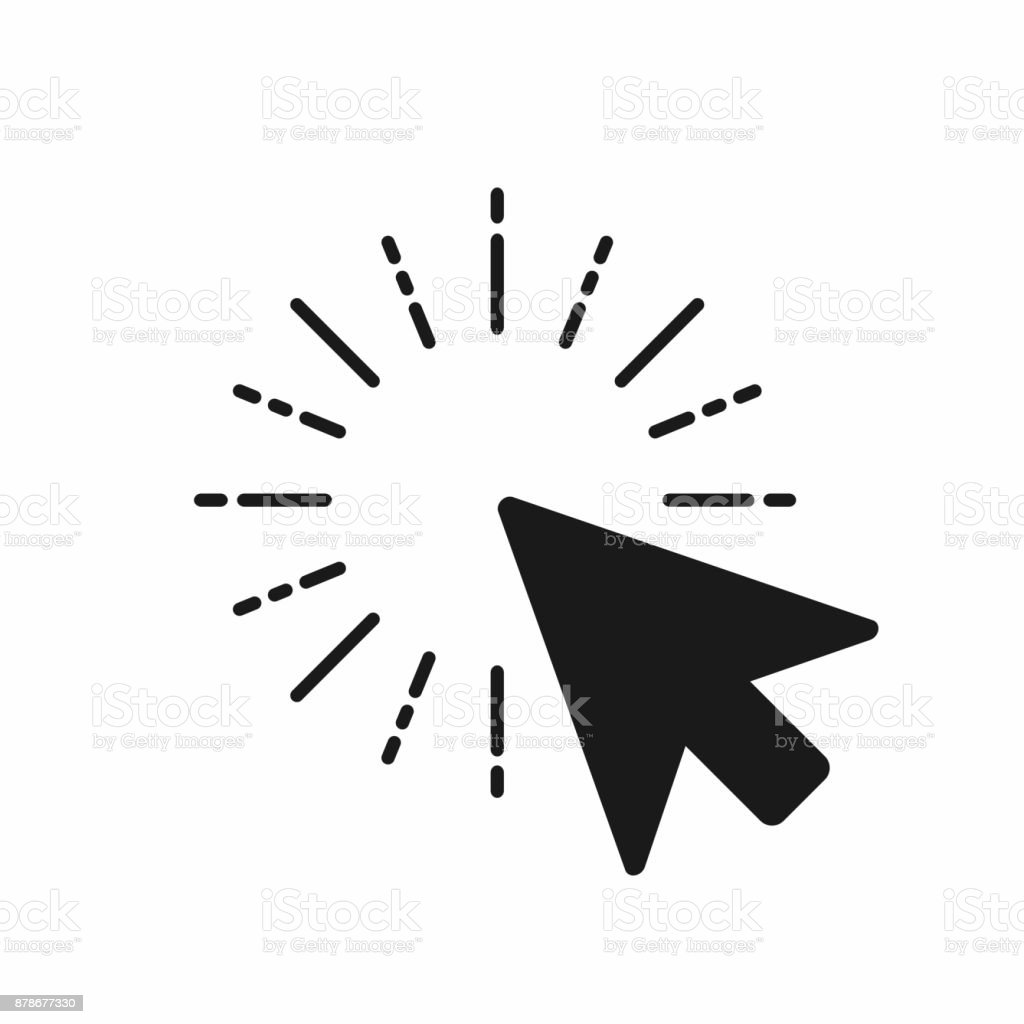 Click icon. Computer mouse pointer click with arrow