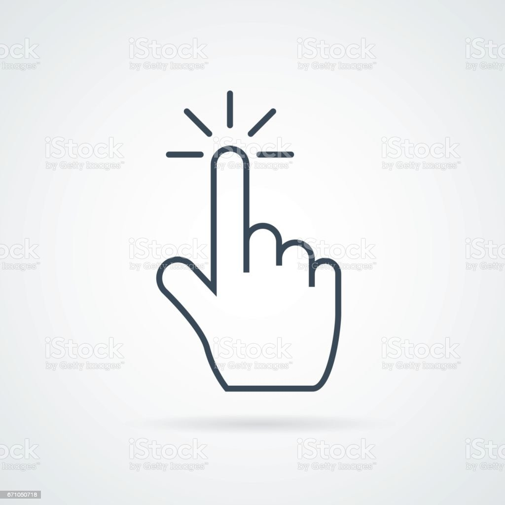 click icon stock vector illustration flat design royalty-free click icon stock vector illustration flat design stock illustration - download image now