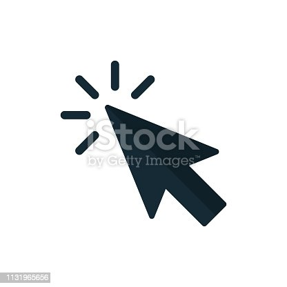 Click icon. Pointer Arrow. Vector Illustration isolated on white background.