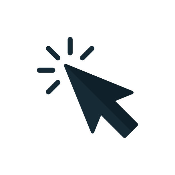 按一下圖示向量。指標箭頭 - 互聯網 幅插畫檔、美工圖案、卡通及圖標